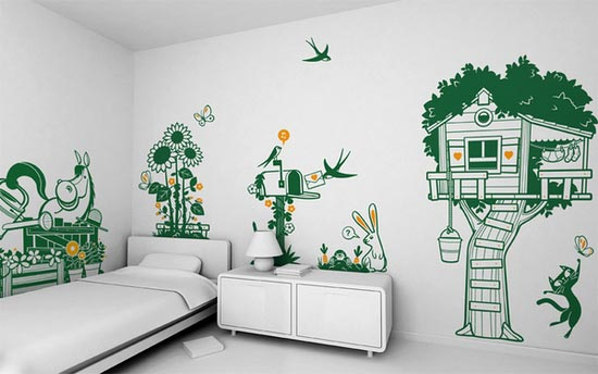 cutting sticker kamar