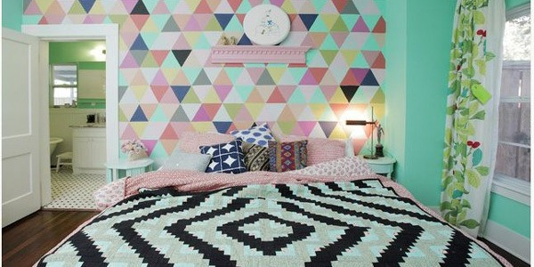 Colourful bedroom ( Lindsay Von Hagel )