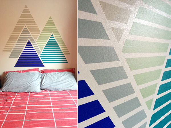 Mountain-pattern-washi-tape-wall-from-The-Paper-Place